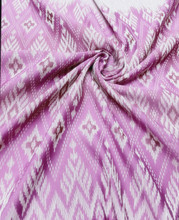 "Traditional Thai Silk Damask 40""X80"" Fabric  - Lotus Pink"