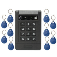 Electronic RFID Card Door Access Control Keypad Password Code Lock +10 ID Keyfob