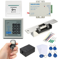 125KHz RFID ID Keyfobs One Door Access Control Machine Kit Electric Strike Lock Access Control System