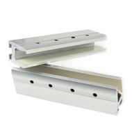 High Strength Aluminum Alloy Automatic Sliding Glass Door Leaf Hanging Clamps, Glass Door Hang Bracket(2pcs/set)