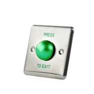 New Style Stainless Steel Door Release Button, Push Button with Big Green Button