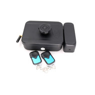 Wireless Electronic Rim Lock remote control motor lock with two remote handle Battery power supply