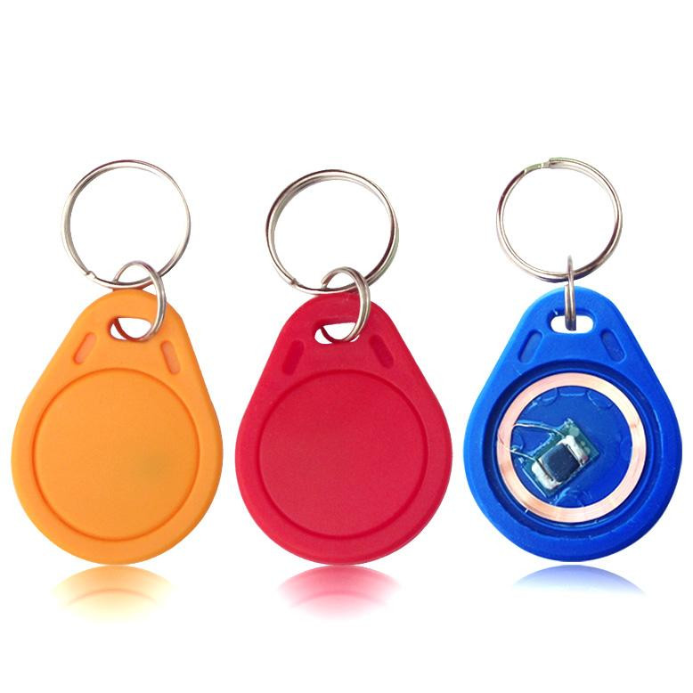 10pcs 13 56MHz IC M1 S50 Keyfobs Tags Access Control RFID Key Finder Card  Token Attendance Management Keychain ABS Waterproof