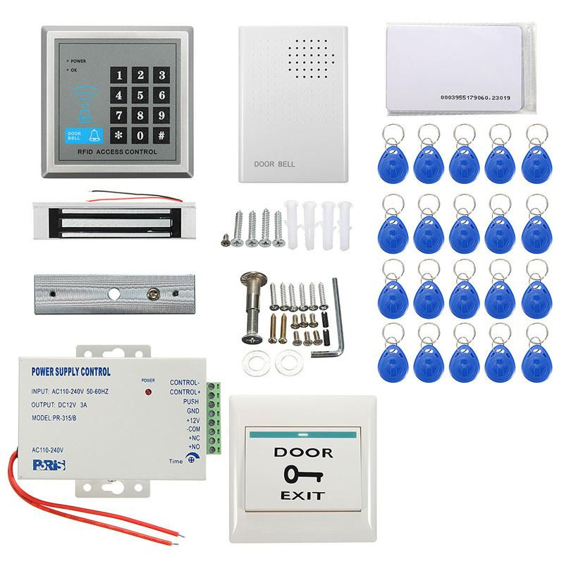 132LBs  Electric Magnetic  Door Lock Kit ID Card Password Access Control System