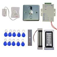 DIY 125KHz RFID Waterproof IP68 Metal Password Keypad Door Access Control System Kit + 300LBS Waterproof Magnetic Lock