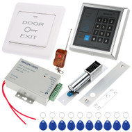 RFID Access Control System Access Reader+Eletric Lock++ Power Supply + Push Button + 1*Remote Controller + 10*RFID Card