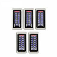 5pcs Keypad RFID Access Control System Proximity Card Standalone 2000 Users Door Access Control Waterproof F9501D