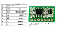 10Piece/lot 125kHz EM4100 TTL RS232 RFID card reader Moule Embedded module Circuit UART Interface +345UH Coil 3-5V