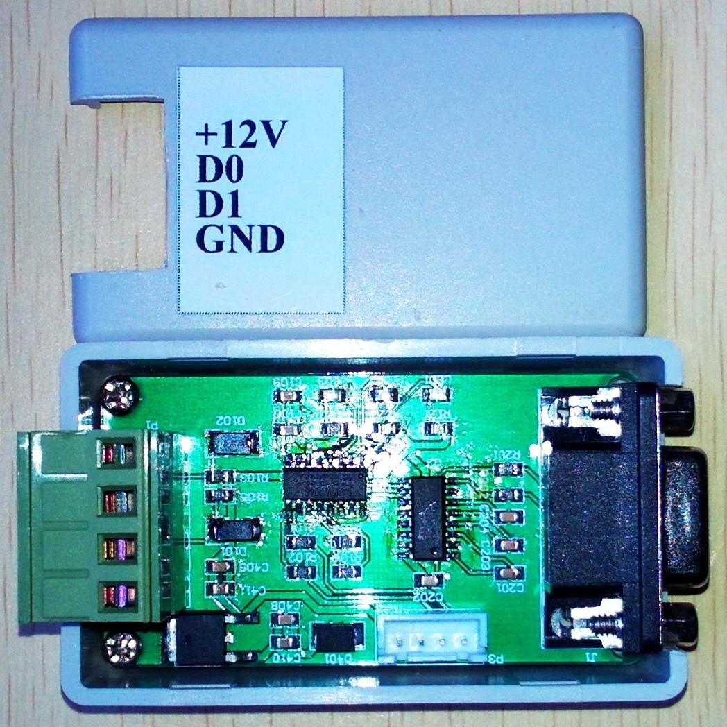 Converter /WG26/34 232/ serial Wiegand /COM port / Bidirectional Wigan  transmission (16 hex)