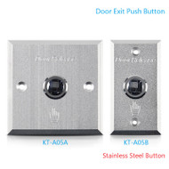 Door Exit Push Button Stainless Steel Sealed Contact Button Aluminum Alloy Panel Door Access Control Release Switch