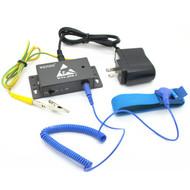 Auto-alarm Anti static ESD Wrist Strap Tester Antistatic Wrist Band Online Monitors for 1pc Strap