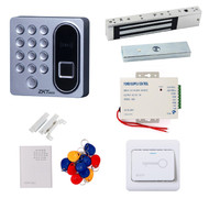 Biometric Fingerprint 125khz RFID Card Password Access Control 600LBS Magnetic Lock Door Lock Entry Kit