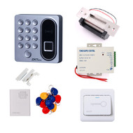 Biometric Fingerprint 125khz RFID Card Password Access Control Electric Strike Door Lock Entry Kit