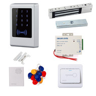125Khz RFID Waterproof Metal Access Control System 600Lbs Magnetic Lock Door Lock Entry Kit