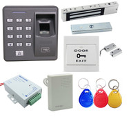 Fingerprint Password 125khz RFID Card Biometric Access Control & Biometric Door Lock Entry Kit (Magnetic Lock)