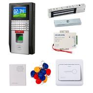 TCP IP Color Screen RFID Fingerprint Attendance Access Control 600Lbs Magnetic Lock Door Lock Entry Kit