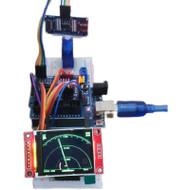Arduino simulation radar ultrasonic simulation radar maker DIY ornament programming learning kit for college and middle school students