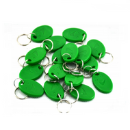 100piece 125KHz RFID Smile Green Proximity ID Cards Token Tag Key Keyfobs