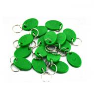 100piece 125KHz RFID Smile Green Proximity ID Cards Token Tag Key Keyfobs