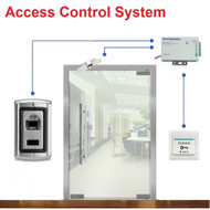 Fingerprint Door Access Control System for Frameless Glass Door Electric Strike Lock Kit