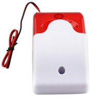 Mini Red Strobe Siren Indoor Outdoor Wired Sound 110dB Alarm Siren with Strobe flash light 12V DC