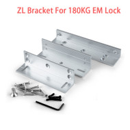Easy using ZL Bracket For 180KG Holding Force Electric Magnetic Lock L&Z Bracket For Inward Door Locks Install On Wooden door