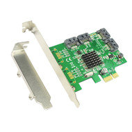 High Quality 4 Ports Internal PCI-Express SATA 3.0 6Gb/s Expansion Card 88SE9215 Chipset