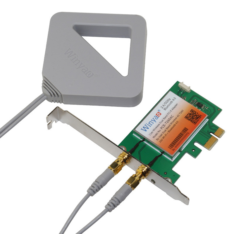802 11ac Dual Band PCI-E Adapter Wireless-AC 7260 Bluetooth4 0 867Mbps WiFi  Card