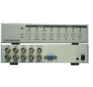 8CH Video Quad Processor Splitter with VGA Output For CCTV System