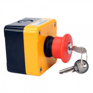 Red Sign Emergency Stop Push Button Switch & Key 660V