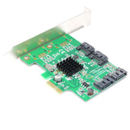 PCI Express To SATA 3 Controller Card PCI-E to 4-Port SATA 3.0 III Adapter 6Gbps w/Low Profile Bracket