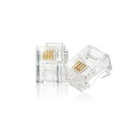 200piece/lot 6P4C RJ11 Modular Plug Telephone & ADSL & Network Connector