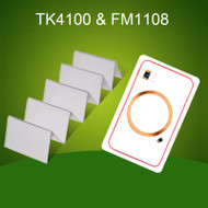 200PCS 125KHz+13.56MHz RFID Smart ID+IC Composite Cards TK4100+FM1108 Chip 2 in 1 Card
