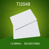 200PCS 13.56MHz HF TI2048 White Card ISO15693 Smart Card 2048Bits Contactless IC Card