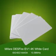 100piece/lot MF DES EV1 4K Card MF3 IC D41 13.56Mhz NFC Tag Standard White Card