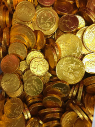Chocolate Gold Coins - Foil Wrapped 1 lb.