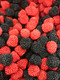 Gummy Raspberries and Blackberries