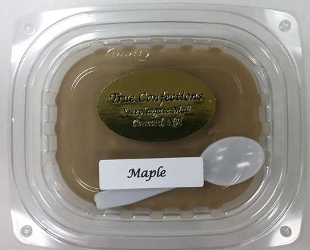 1/4 lb. maple fudge with spoon