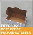 100 Pcs Mailing Box 250x180x75mm DIECUT Folding Fit Australia POST 3KG Satchel Bag
