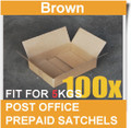 100 Pcs Mailing Box 365x280x95mm Carton Fit Australia POST 5KG Satchel Bag-BROWN