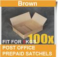 100 Pcs Mailing Box 365x280x95mm Carton Fit Australia POST 5KG Satchel Bag-BROWN