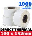 High Quality Direct Thermal Labels. No transfer ribbon is required. Adhesive: Permanent