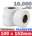 Thermal Transfer Labels industrial printer 76mm/3 core Zebra industrial printers Rectangle Permanent