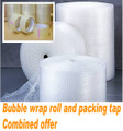 2 roll 500mm x 100M Meter Bubble Wrap plus 12 rolls quality 75M Clear Packaging Tape