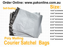 poly courier mailers satchels bags plain white post packaging 5kgs size