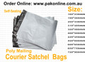 Pakonline supplies courier satchels and mailing bags for posting and sending items to your customers Australian wide