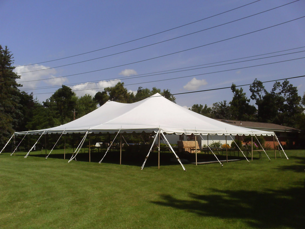40 x 60 Sectional Canopy Pole Tent shown as 40x80 & 40 x 60 Sectional Canopy Pole Tent Rental Starting At: - ABCWNYrental