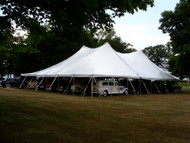 60 x 120 Sectional Canopy Pole Tent shown as 60 x 60