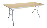 """6' x 30"""" Rectangular Wood Banquet Table Right Angle"""