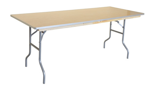 "6' x 30"" Rectangular Wood Banquet Table Right Angle"